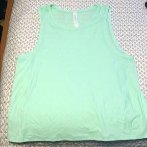 Lululemon Mint Green Muscle Tank Size 8